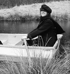 John Lennon - 1973.01.05 In A Rowboat In Greenwich, Connecticut. January 5, 1973. © Bob Gruen - www.bobgruen.com