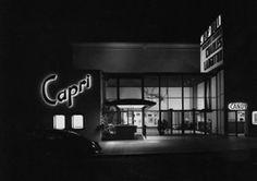 ARTIST: Julius Shulman  TITLE: Capri Theater, San Diego, CA  DATE: 1954  MEDIUM: recent gelatin silver print  SIZE: h: 20 x w: 24 in