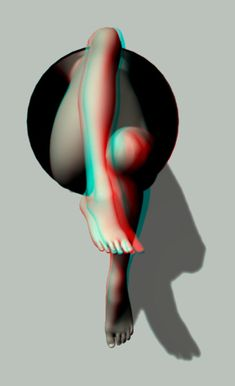 Self Concious _ 3D Anaglyph by fauxquixote on deviantART