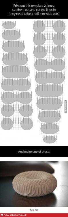 How to make a 3D paper torus