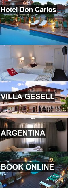 Hotel Don Carlos in Villa Gesell, Argentina. For more information, photos, reviews and best prices please follow the link. #Argentina #VillaGesell #travel #vacation #hotel