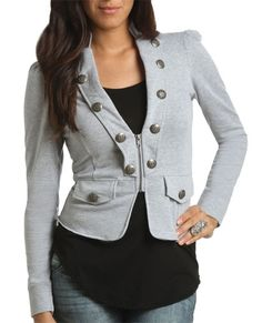 Military Jacket - Teen Clothing by Wet Seal - StyleSays