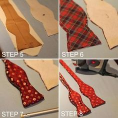 Easy way to transform an out of date tie! Turning Two Dated Old Ties Into One Reversible Bow Tie – SkillOfKing. Sewing Hacks, Sewing Crafts, Sewing Projects, Sewing Tips, Sewing Clothes, Diy Clothes, Bow Tie Tutorial, Bowtie Pattern, Old Ties