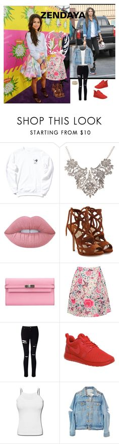 """""""Zendaya inspires me."""" by imonia-little ❤ liked on Polyvore featuring Lime Crime, Paul Andrew, Hermès, Oasis, Miss Selfridge, NIKE and Kendra Scott"""