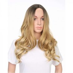 long blonde big curve curly wigs middle parting for sale Cheap Lace Front Wigs, Cheap Wigs, How To Wear A Wig, Wigs Online, Wigs For Sale, Blonde Wig, Womens Wigs, Curly Wigs, Long Curly