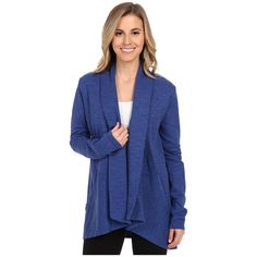 Lucy Tranquility Slub Wrap Women's Sweater ($79) ❤ liked on Polyvore featuring tops, sweaters, drapey top, long sleeve tops, cowl neck sweater, wrap sweater and draped cowl neck sweater