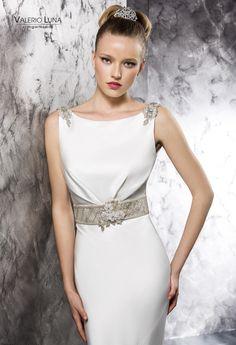 Valerio Luna by HigarNovias 2014 One Shoulder Wedding Dress, Bride, Wedding Dresses, Color, Fashion, Templates, Clothes, Wedding Styles, Grooms
