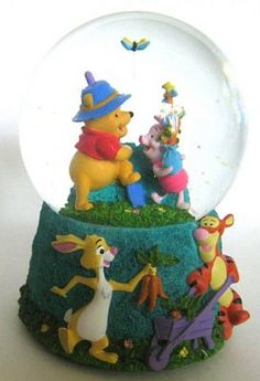 Winnie the Pooh and friends musical snowglobe