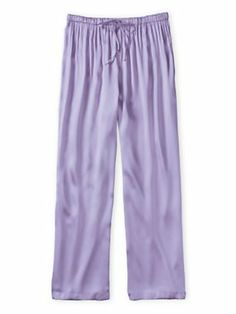 Versatile, straight-leg pajama bottom in a beautiful fabric that gives the look of luxe charmeuse at a lower price. #silk #pajamas #wintersilks