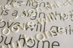 Make raised letters for craft projects: print out the font you want and place wax paper over it. Trace letters with puffy paint, let dry, then use mod podge to secure letters to canvas! (great step by step on how to do this, and which paint works best)
