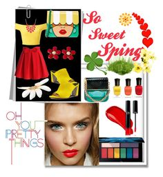 """Oh pretty girl!!"" by jaja8x8 on Polyvore featuring beauté, Yazbukey, Nine West, Miss Selfridge, Chicwish, Charter Club, Schreiner, Burberry, Deborah Lippmann et Giorgio Armani"
