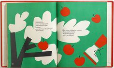 "Super great apple trees llustration from ""Listen! Listen!"" by Ann & Paul Rand 1970"