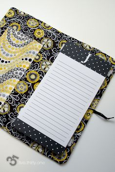 Did it! DIY notepad cover for mom's birthday!