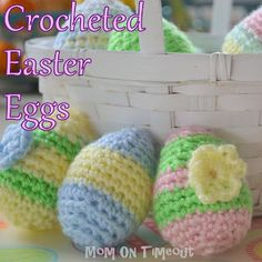 Free Crocheted Easter Eggs & Pattern -