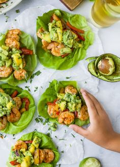 Easy 30 minute Grilled Shrimp Tacos topped with a fresh Mango Avocado Salsa. These flavor bursting gluten free tacos make the perfect light healthy dinner your family will love! dinner gluten free Grilled Shrimp Tacos with Mango Avocado Salsa Mango Avocado Salsa, Guacamole, Avocado Crema, Fresh Avocado, Healthy Meal Prep, Healthy Snacks, Healthy Eating, Healthy Avocado Recipes, Healthy Easy Food