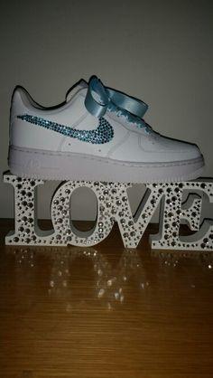 blinged nike air force 1 swarovski/nike/crystal converse / blinged trainers /diamonds /sparkle /wedding shoes