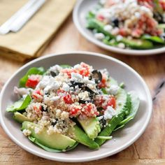 Greek Quinoa Salad with Avocadoes: Quick Dinner on a Dime