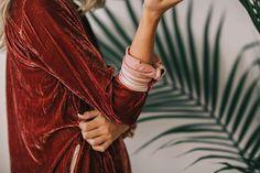 @kamplainnn ❃ winter autumn style fashion red jacket velvet fall