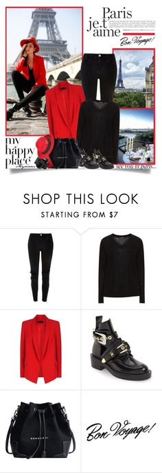 """""""Week end at paris"""" by lovemeforthelife-myriam-mimi ❤ liked on Polyvore featuring Lonely Planet, River Island, Jette, ESCADA, Balenciaga and Tim Holtz"""