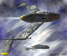 The Blohm & Voss P 210 fighter was an further development of the P208 project powered by one HeS011 Jet engine this fighter would have a Speed of 632mph range:897mi altitude:41000ft