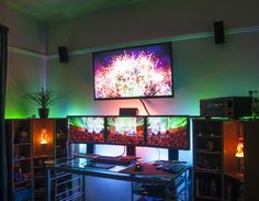 No LEDs only Cold Cathodes.  Check out bestgamesetups.com for a complete breakdown of this amazing setup.
