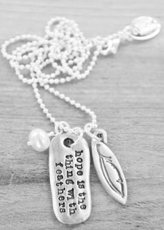 ☼ Emily Dickinson ☼ Hope is the Thing with Feathers pendant by Lisa Leonard Designs