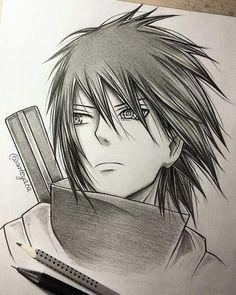 Sasuke - by Naruto Naruto Shippuden Sasuke, Naruto Kakashi, Anime Naruto, Fan Art Naruto, Otaku Anime, Manga Anime, Naruto Drawings, Sasuke Drawing, Naruto Sketch