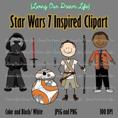 CLIPART: Star Wars 7 Inspired Stick Figures