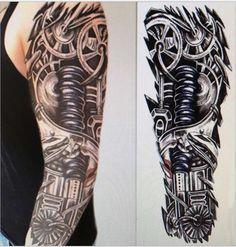 Waterproof Temporary Tattoo Sticker full arm large size robot arm tattoo Water Transfer flash tatoo fake tattoo for men women Large Temporary Tattoos, Fake Tattoos, Body Art Tattoos, Tattoos For Guys, Maori Tattoos, Polynesian Tattoos, Filipino Tattoos, Tattoos Pics, Tattoo Drawings