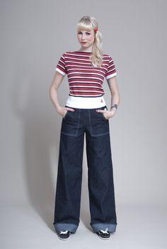 """Jeans - Jeans """"Lilli"""" - ein Designerstück von FrozenHibiscus bei DaWanda"""
