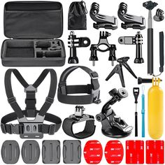 Navitech 50-in-1 Action Camera Accessories Combo KIt with EVA Case Compatible with The ICONNTECHS IT Ultra HD 4K Sports Action Camera