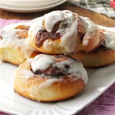 Best Cinnamon Rolls Recipe -I always prepare this roll recipe from my husband's family for our church conferences. Serve them with scrambled eggs, and you have a filling breakfast. As a variation, you can replace the cinnamon filling with a mixture of raisins and pecans. —Shenai Fisher, Topeka, Kansas