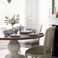 View Item French Shabby Chic Louis Dining Table And Four Chairs Fair Willow Dining Room Review