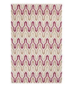 Mocha & Burgundy Fallon Wool Rug #zulily #zulilyfinds