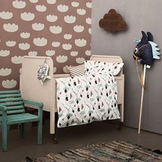 Ferm Living Cloud Tapete rosa