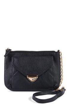 Deb Shops Crossbody Handbag with Front Pocket Lock