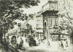 Frank Milton Armington (1876-1941) - Boulevard St. Denis, Paris, 1925