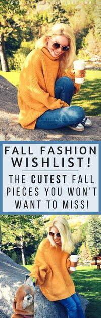 All of this cool air has me feeling all the fall feels and craving all the fall fashion! See what pieces are on my fall fashion wishlist! fall fashion 2017, fall fashion casual 2017, casual fall outfits, casual fall outfits women, sweater weather, #fallst
