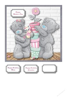 Tatty teddy Mothers Day or Mum Birthday by Susan Gilbert Tatty teddy Mother's Day or mum birthday: Tatty teddy Mother's Day or mum birthday