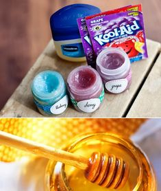 Mix Vaseline, Kool-Aid powder, and honey for a sweet and fruity lip gloss tweens will love to make.:
