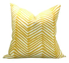 Alan Campbell Zig Zag pillow cover in Inca Gold - 20 x 20. $95.00, via Etsy.