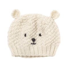 Polar Bear Hat (€22) ❤ liked on Polyvore featuring accessories, hats, beanies, gorros, bear beanie hat, wool hat, bear animal hat, woolen hat and long hat