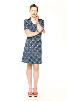 Tante Betsy Collar Dress Grey