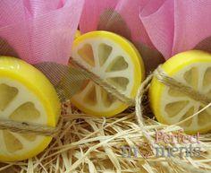 Μπομπονιέρα σαπούνι λεμόνι Diy And Crafts, Lime, Party Ideas, Fruit, Wedding, Food, Decor, Valentines Day Weddings, Limes