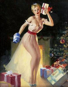 Vintage Christmas Pin Up