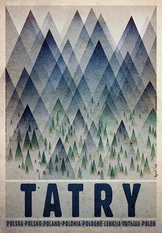 Plakat Tatry (proj. Ryszard Kaja) 89zł