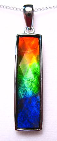 Ammolite pendant $450 so pretty!
