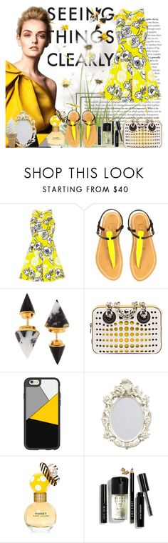 """Dandelion"" by strawberrybubble ❤ liked on Polyvore featuring River Island, K. Jacques, Vita Fede, Prada, Casetify, Marc Jacobs and Bobbi Brown Cosmetics"