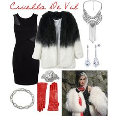 Cruella de Vil- Once Upon a Time by bballgirl9 on Polyvore featuring Miss Selfridge, BERRICLE, Jolie By Edward Spiers and Once Upon a Time