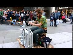 Pipe Guy, An Australian Street Musician Who Plays Electronic Dance Music on a Series of PVC Pipes